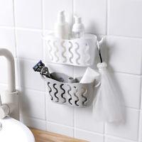 ITS- Suction Cup Bathroom Storage Shelf Rack Caddy Holder Bar Kitchen Organiser