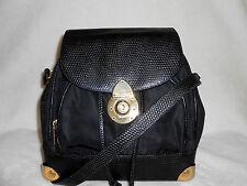 BRACCIALINI BLACK LEATHER & FABRIC/ CROSS BODY/SHOULDER/ BUCKET BAG, ITALY!*****