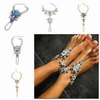 Luxury Crystal Star Pendant Anklet Chain Ankle Barefoot Foot Sandals Jewelry