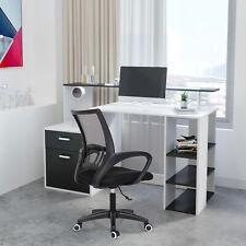 Computer Desk Corner Table 360° Rotation L-Shaped PC Laptop Drawers Shelves Home