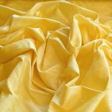 "Iridescent Light Yellow Dupioni 100% Silk Fabric 54"" Wide, By The Yard (S-214A)"