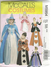 McCalls Sewing Pattern 5954, Storybook and Princess Costumes, Adult S - XL, New