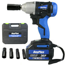 "1/2"" Cordless Impact Wrench Driver Electric Ratchet Rattle Nut Gun 6.0AH Li-ion"