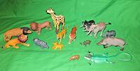 Plastic Animal Figure Toy Lot: Wildlife
