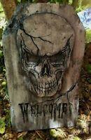 WELCOME Authentic Handmade Halloween Tombstone Prop Halloween Decor Yard Art