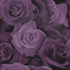 Austin Purple Roses Wallpaper Flower Floral Heavyweight Modern Arthouse 675601