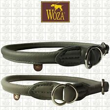 WOZA Premium Half Choke Collar Rolled Cow Napa Saddlery-sewn Round Edges C4119