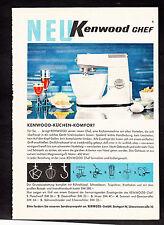 3w2153/ Alte Reklame von 1960 - KENNWOOD - Küchen-Komfort - Stuttgart