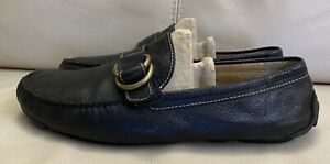 Coach Mans Nicholas Loafers Black Leather Size 9