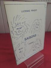 SAISONS (Poèmes) Lucienne Pradet , illustrations Eric Berthelier