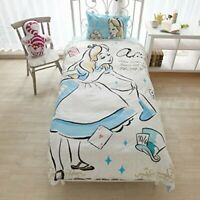 New Disney Alice in Wonderland Bed Sheet Pillow Quilt Cover 3 set Princess