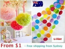 Tissue Paper Pom Poms Circle Garland for Wedding Party Baby Living Decor Pompoms