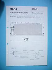 Service manual manual for Saba Meersburg Stereo K ,ORIGINAL