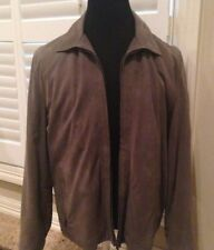 $6500 KITON GRAY  Leather Jacket SIZE EU 56 US 46 HAND MADE IN ITALY