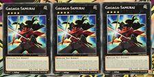 3x Gagaga-Samurai LED6-DE040 COMMON 1.AUFLAGE DEUTSCH PLAYSET NM Yu-Gi-Oh