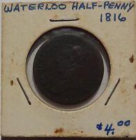 1816 Waterloo half penny