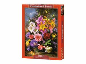 "Castorland Puzzle 1000 Pieces - A Vase of Flowers 27""x18.5"" Sealed box C-103607"