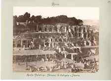 Italie, Roma, Monte Palatino  Vintage albumen print  Tirage albuminé  18x24