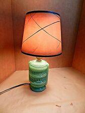 Green Decorative Vintage Glass Lamp