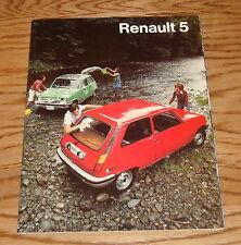 Original 1976 Renault 5 Deluxe Sales Brochure 76