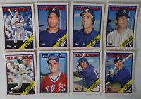 1988 Topps Traded New York Yankees Team Set of 8 Baseball Cards