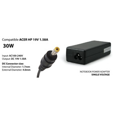 Charger 19V 1.58 A 30W Netbook HP, Acer Jack: 4.0 x 1.7mm Comp. No Cable
