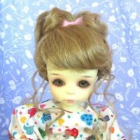 Monique LYDIA  Lt. Straw erry Blond Full Cap Doll Wig Size 8-9 Up-do