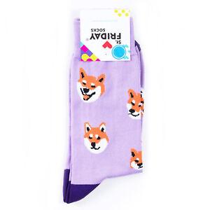St.Friday Socks Siba Inu Dog Pattern