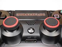 2 x schwarz rot Joystick Thumbstick Kappen für Sony PS4  XBOX Controller