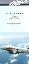 Airline Timetable - Aloha - 25/04/04
