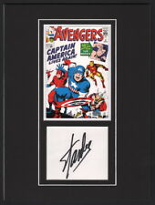 Signed Stan Lee Matted Jack Kirby Art ~ Avengers #4 1st SA Captain America App