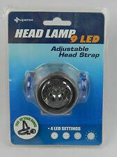 4-Mode Adjustable 9 LED Cycling Hiking hunting Head Light / Lamp Blue