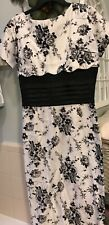 Bettie Page/ Tatyana white and black floral dress size L