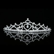 Bridal Heart Rhinestone Crystal Prom Wedding Crown Tiara 6403