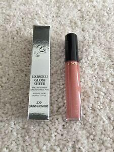 NIB Lancome L'Absolu Lip Gloss Sheer #230 Saint Honore 0.27oz Brand New