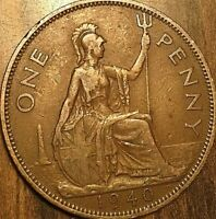 1940 UK GB GREAT BRITAIN ONE PENNY