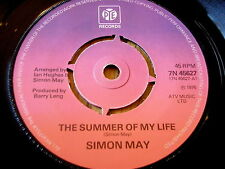 "SIMON MAY - THE SUMMER OF MY LIFE   7"" VINYL"