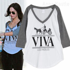 Cotton Blend Graphic Tee Baseball T-Shirts for Women