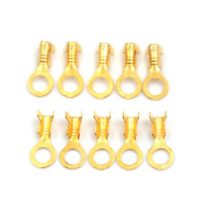 100 Pcs 5.2mm Gold Brass Round Terminal Power Supply Wire Connector ed