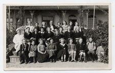 Foto Gruppenfoto Schulklasse 1938 nur Mädchen Madels maiden girl Zöpfe Jugend