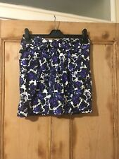 Topshop Purple Floral Pattern Short Skirt Size 8