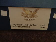 MARK McNAIRY ENGLISH MADE CAP TOE BOOTS SZ 12 RETAIL $365.00