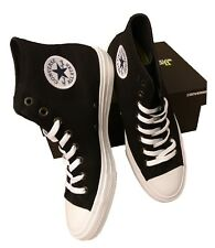 fd9da43d1809 Converse Chuck Taylor All Star II BLACK High Top LUNARLON Shoes Size 10  150143C