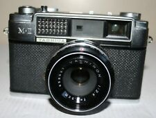 Yashica M-II 35mm Rangefinder Camera With Yashinon 1:2.8 45mm Lens & Case - Rare