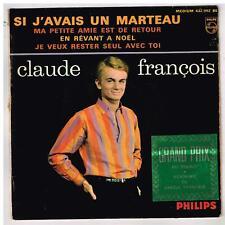 """Claude FRANCOIS   Si j'avais un marteau     avec sticker       7""""  45 tours EP"""