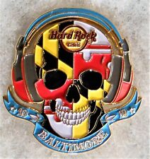 HARD ROCK CAFE BALTIMORE 3D MARYLAND FLAG SKULL WITH HEADPHONES PIN # 509283