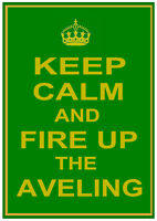 """AVELING and Porter (Steam Roller Traction Engine) """"KEEP CALM"""" METAL SIGN PLAQUE"""