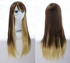 W-19 Marron Blond Brown Mix 75cm Harajuku lolita cosplay perruque wig Hitzefest