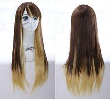 W-19 braun blond brown mix 75cm Harajuku Lolita COSPLAY Perücke WIG hitzefest