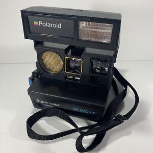 Polaroid Supercolour SE 670 AF Black Instant Film Camera 600 Series